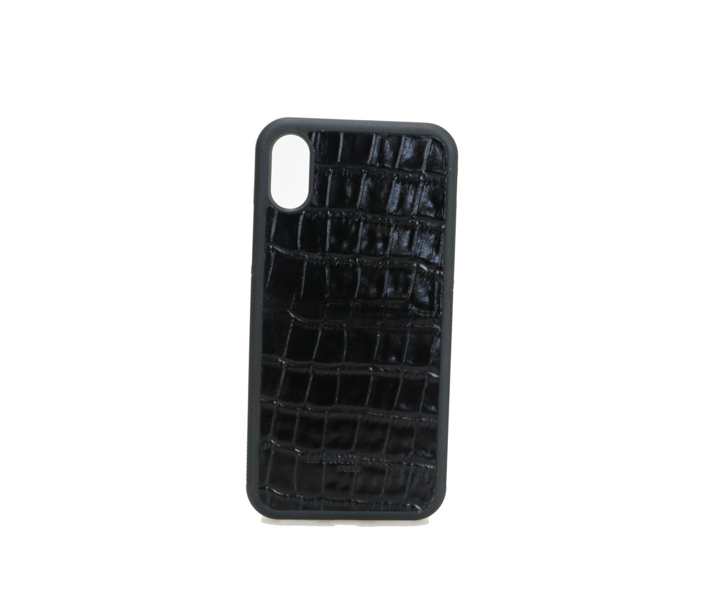 IPHONE CASE CROCO BLACK - FOR IPHONE 7 / 8 / X