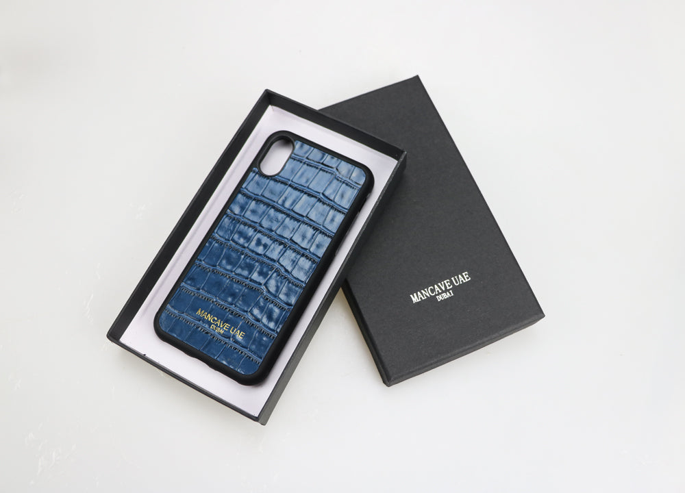 IPHONE CASE CROCO BLUE - FOR IPHONE 7 / 8 / X