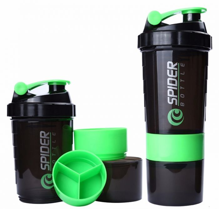 SPIDER BOTTLE PROTEIN & MULTI PURPOSE SHAKER WITH 2GO SOLUTION