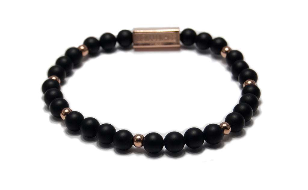 MENS LUXURY BRACELET NEW YORK ONYX BLACK