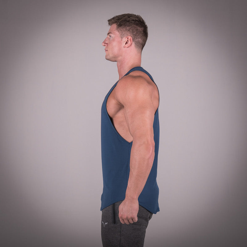 SQUAT WOLF GYM MUSCLE STRINGER - BLUE