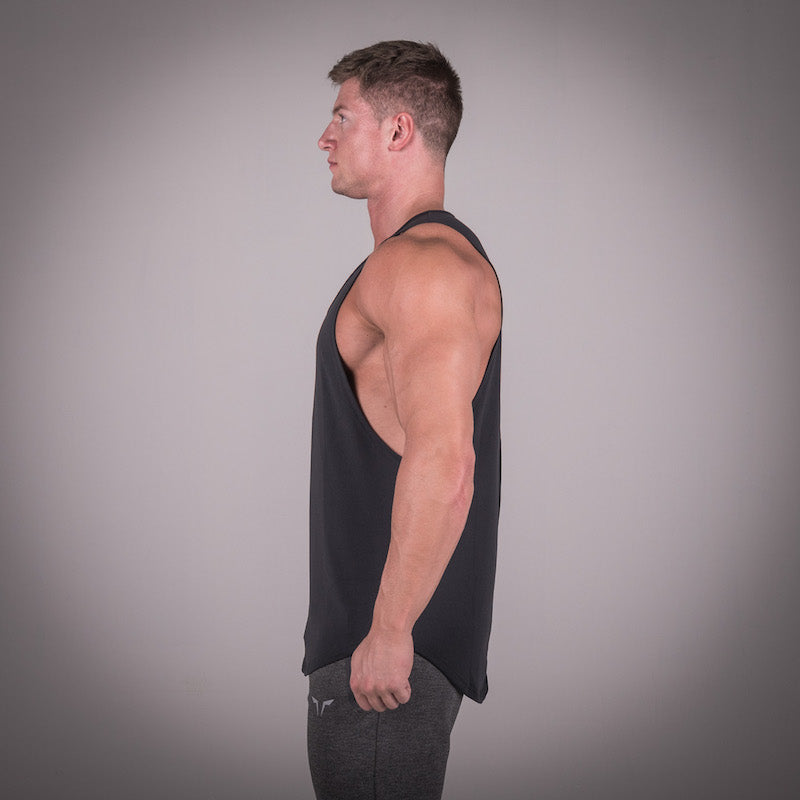 SQUAT WOLF GYM MUSCLE STRINGER - BLACK