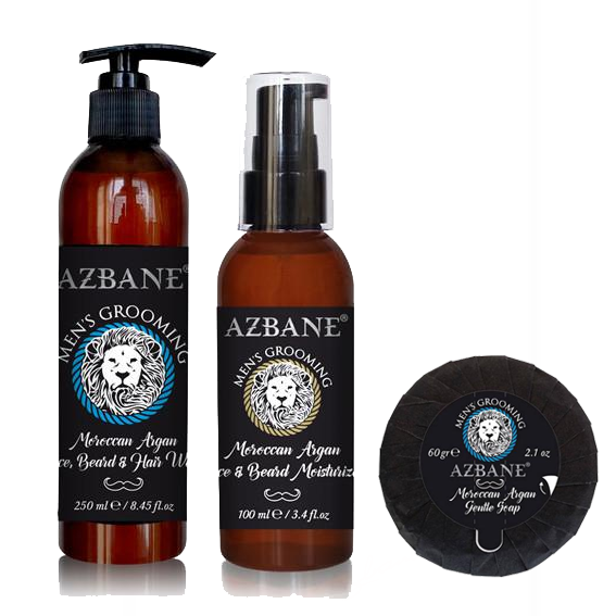 AZBANE ORGANIC ARGAN BEARD WASH COLLECTION SET