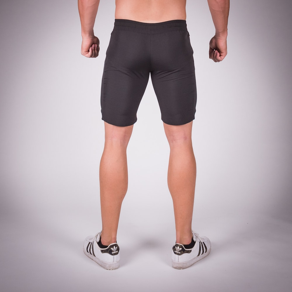 SQUAT WOLF GYM SHORTS LIGHT MESH - BLACK
