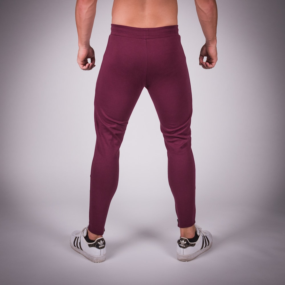 SQUAT WOLF GYM JOGGER PANTS - MAROON