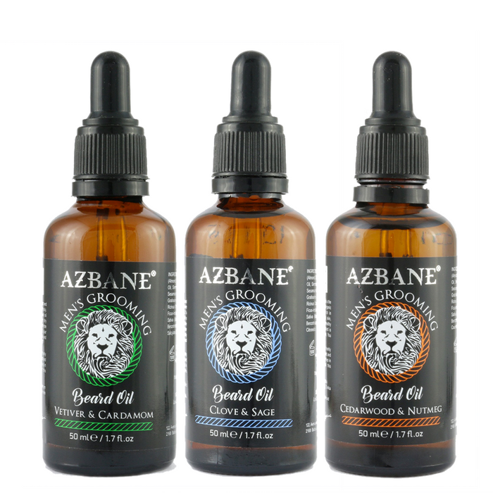 AZBANE MOROCCAN ARGAN BEARD OIL COLLECTION