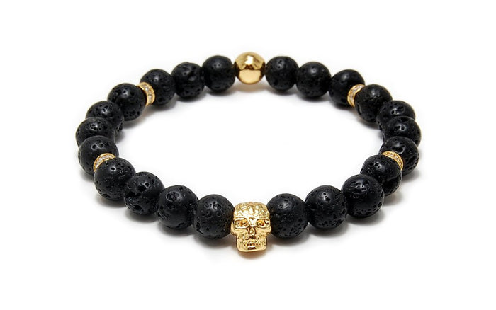 MENS LUXURY BRACELET EMPEROR BLACK LAVA