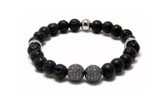MENS LUXURY BRACELET GOTHENBURG BLACK LAVA