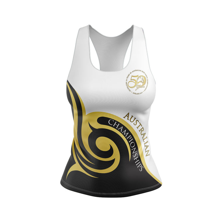 Australian 50th Anniversary 2017 Deluxe  Ladies Fitted Vest Top - - CLOSED - Some available to purchase at event.