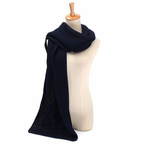 Men Women Metro Knit Pure Colors Scarf Warm Winter Smart Long Scarves