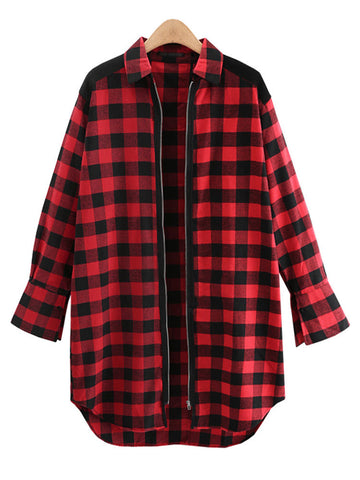Aroan Check Print Coat
