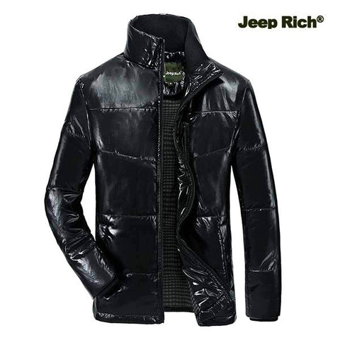 Jeep Rich Thick Warm Stand Collar Padded Jacket For Him