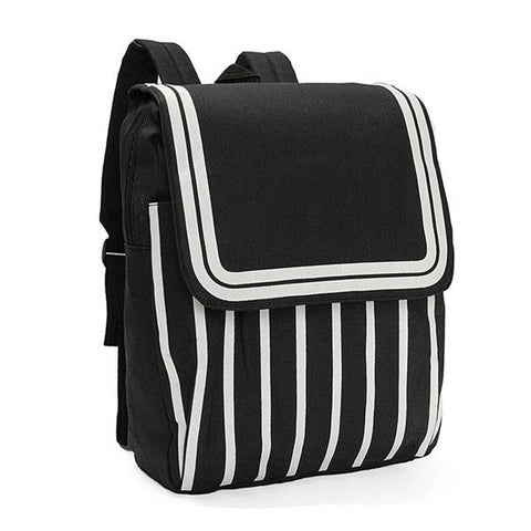 Striped Canvas Backpacks for Her