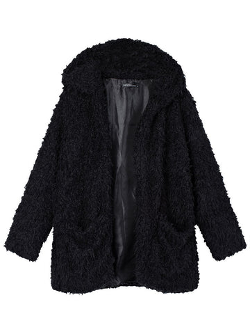 Berina Hooded Furry Coat