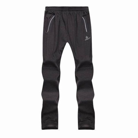 Men's Plus Size Thickened Sports Trousers Zipper Pocket Elastic Plush Lining Sweatpants