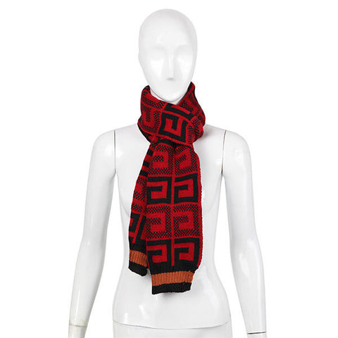 Men Women Grid Lattice Thick Scarves Crochet Knitting Cashmere Imitation Wrap Pashmina