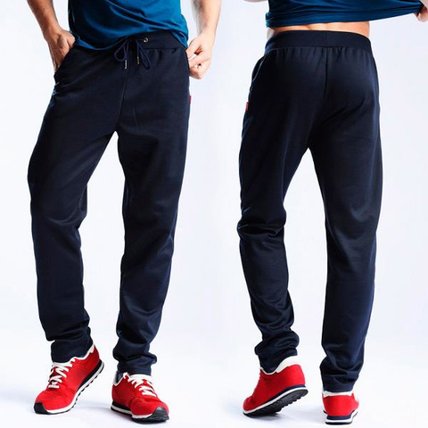 Mens Solid Color Casual Sweatpants Relaxed Fit Drawstring Spring Fall Cotton Sport Pants