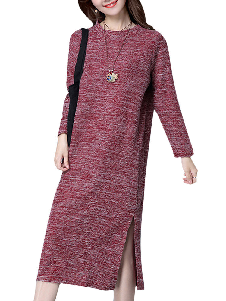 Sue Split Knit Dress