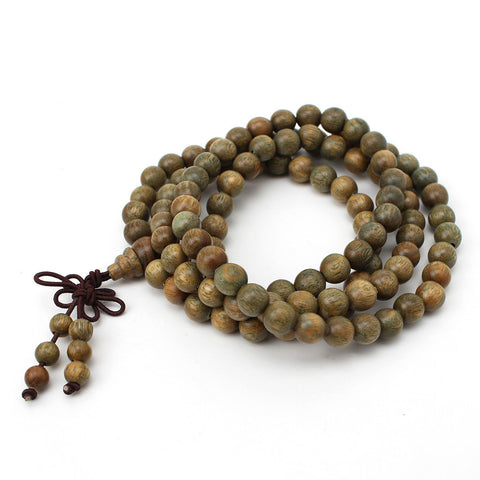 8mm Green Sandalwood Prayer Bead Bracelet