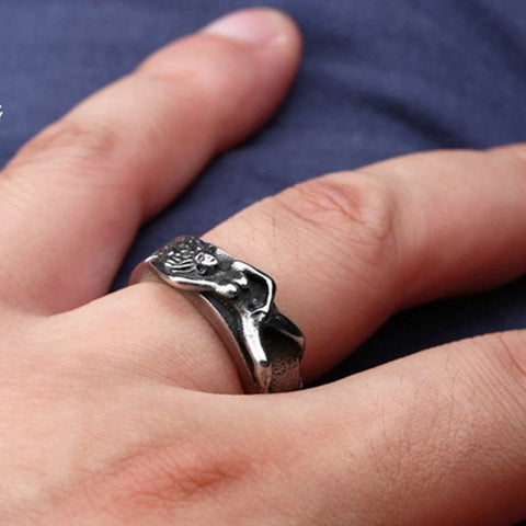European Style Men Ring Punk Rock Stainless Steel Ring