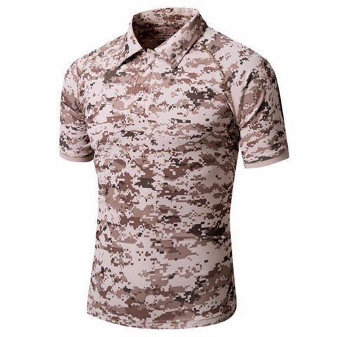 Camouflage Quick-Drying Polo T-Shirt For Men