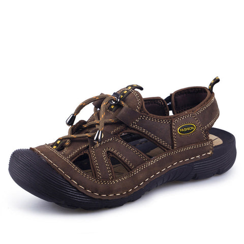 Men`s Genuine Leather Breathable Sandals