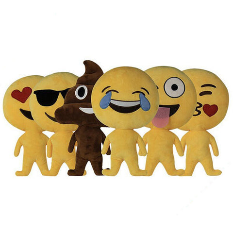 Creative Funny Emoji Expression Pillow Throw Plush Sofa Bed Car Cushion Birthday Gift Trick Toys