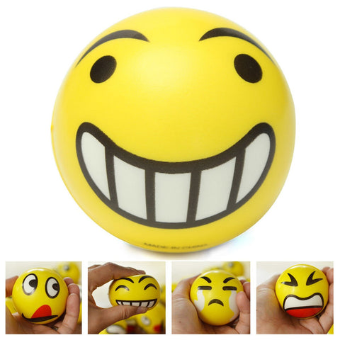 Kawaii Squishy Emoji Smiley Face Anti Stress Relief Autism Mood Squeeze Ball Reliever Toy