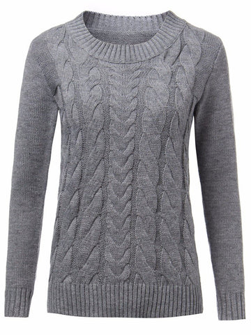 Anais Solid Color O-neck Sweater