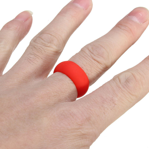 Size 10 Rubber Silicone Band Ring
