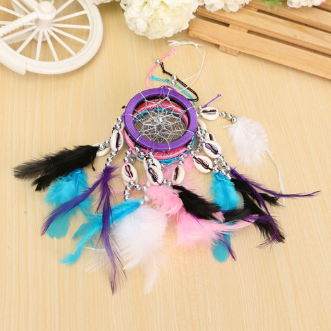 Pure Fantasy Feathers Ring Wind Chime Dream Catcher Campanula Hanging Ornament