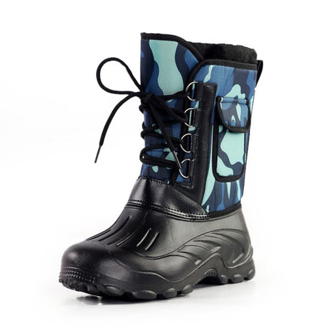 Camouflage Mid Calf Boots