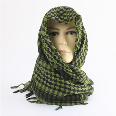 Men Women Military Arab Tactical Desert Scarf Army Shemagh KeffIyeh Shawl Neck Wrap