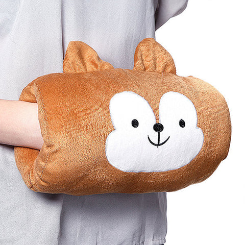 Creative Cartoon Emoji Rectangle Shape Throw Pillow Plush Soft Sofa Car Office Warm Hand Cushion