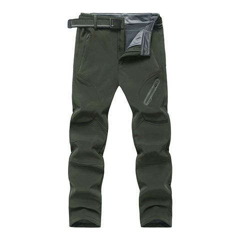 Mens Big Size Outdoor Durable Thick Lining Warm Water-repellent Breathable Sport Pants