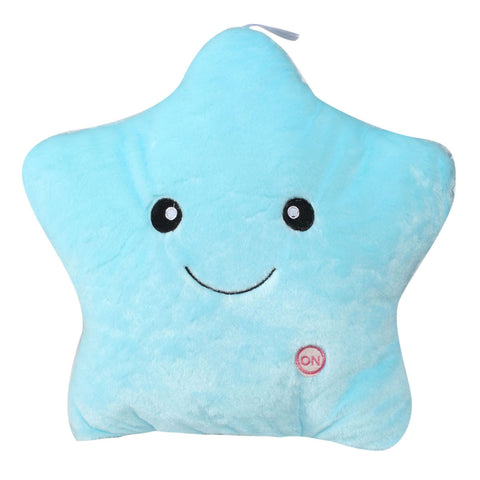 Plush LED Light Star Throw Pillow