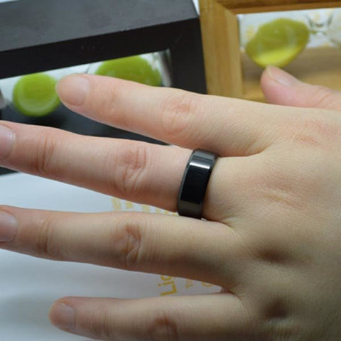 Black Polishing Tungsten Steel Ring