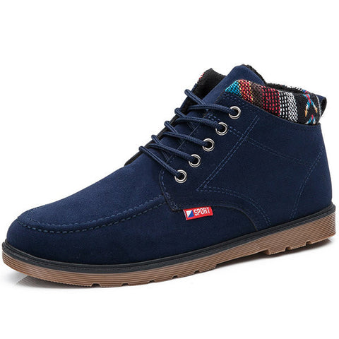 British Style Casual Lace Up Ankle Boots For Men