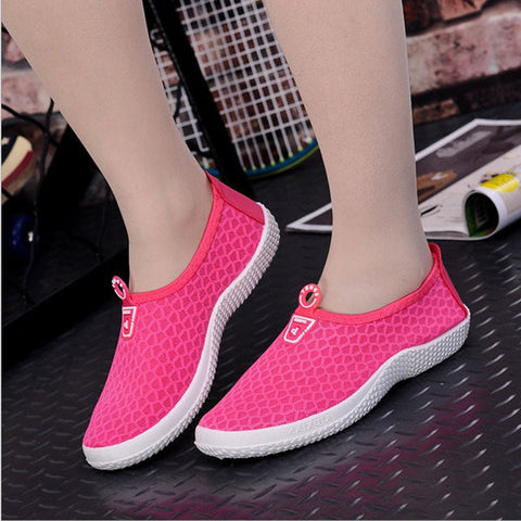 Mesh Light Breathable Soft Flat Casual Sport Shoes