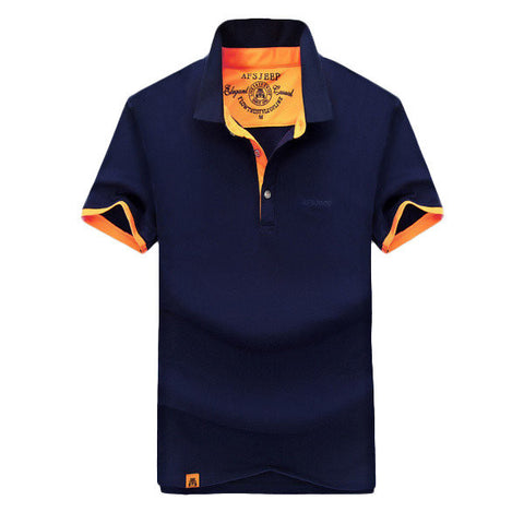 Casual Solid Color Lapel Polo Shirt  For Men