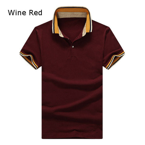 Mens Casual Short Sleeve Polo T-Shirt
