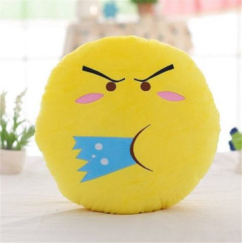 Emoji Expression Throw Pillow