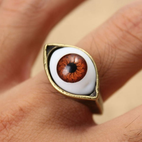 Halloween Vintage Punk Bronze Evil Eye Ring