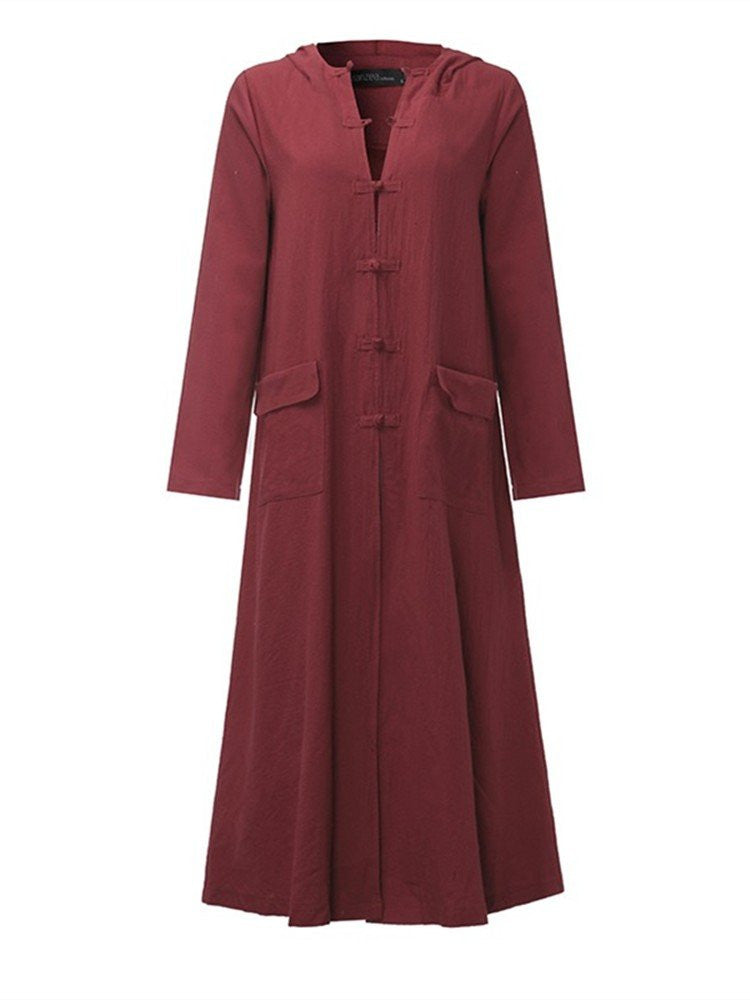 Sira Hooded Coat Dress