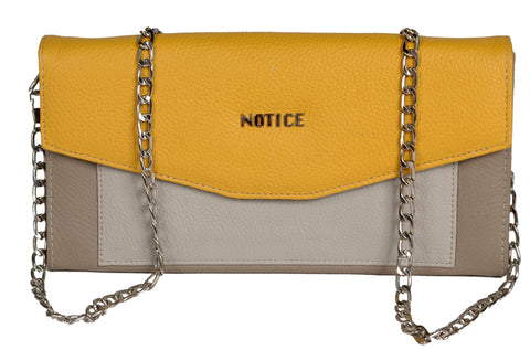Nifty Multi-Colored Clutch Chain Bag