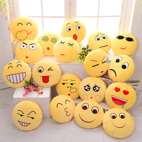 Emoji Expression Throw Pillow Stuffed Plush Sofa Bed Cushion