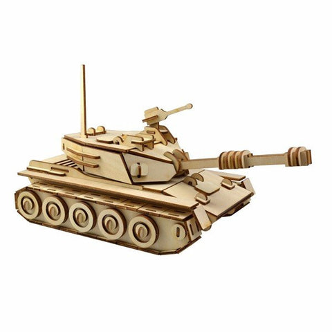 3D Jigsaw Tank Assemble IQ Challenger Woodcraft Assembly Handcraft DIY Model