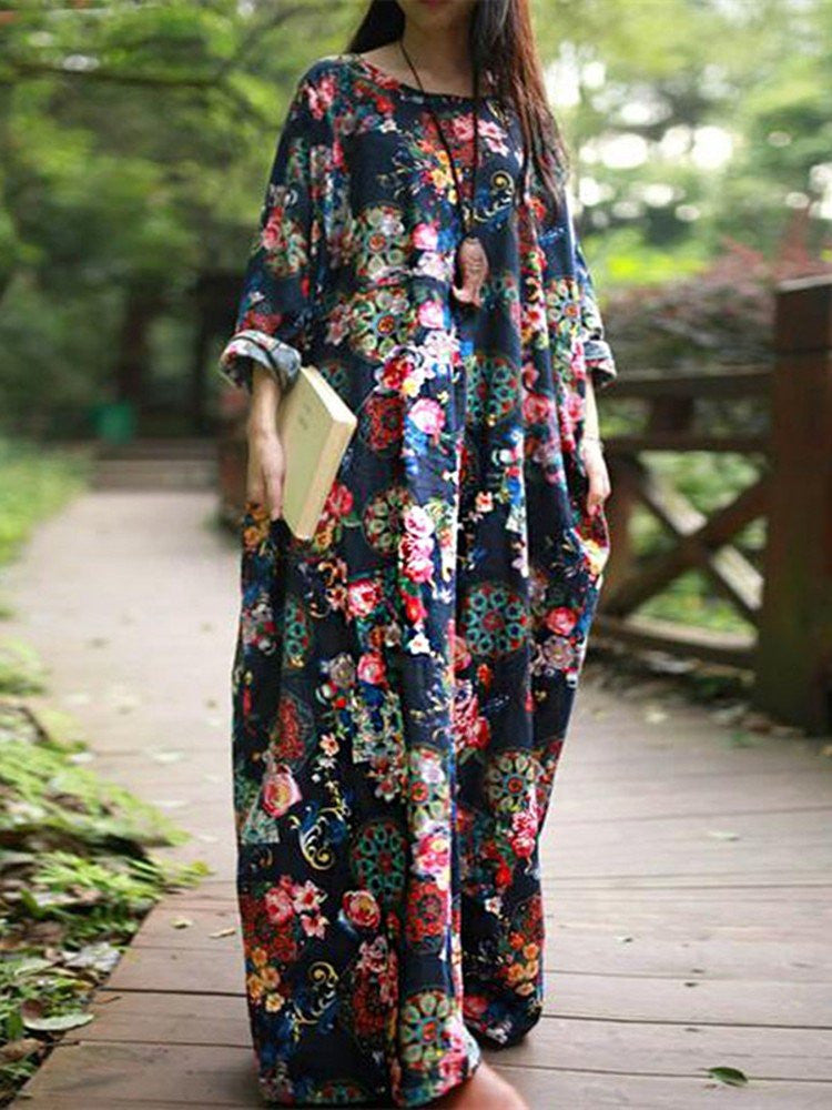 Sue Loose Floral Dress