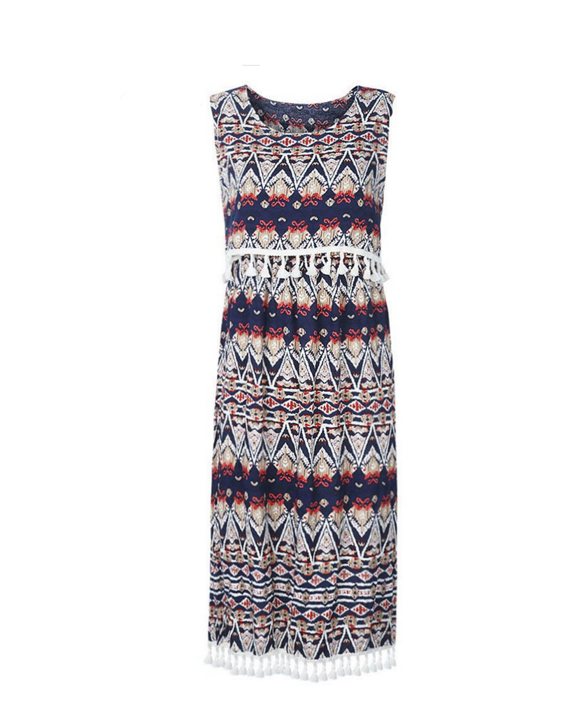 Relaxed Bohemian Printed Dress