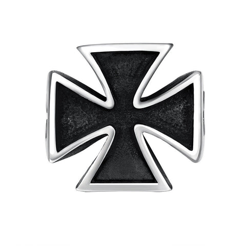 European Vintage Ring Stainless Steel Cross Movie Series Punk Ring